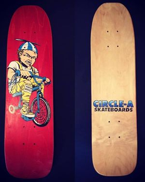 Circle-A Fabian Kravetz Tricycle Kid Deck (Red Top + Bottom).jpg